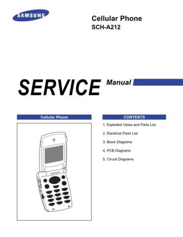 Samsung Cellular Phone SCHA212 Service Manual Download