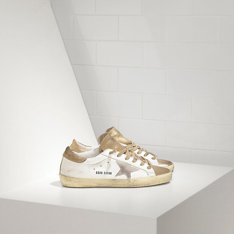 Women s Golden Goose Deluxe Brand sneakers super star in leather with suede  star sale 15e68213af7
