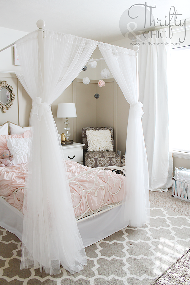 Big girl bedroom makeover best of thrifty and chic big - Cute girl room ideas ...