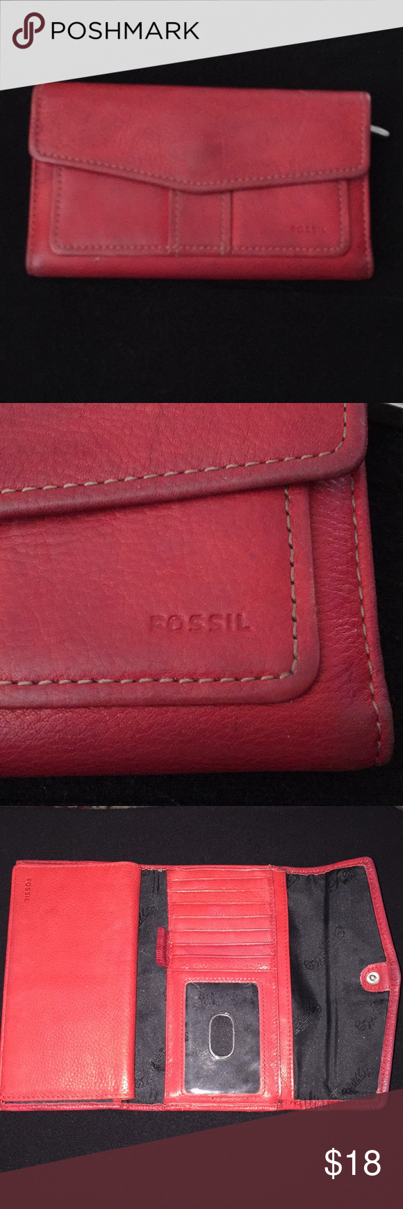 Fossil Wallet Used with normal wear and tear. Please ask