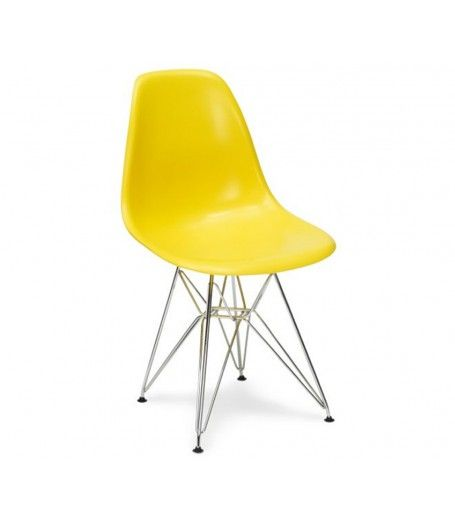 Charles Ray Eames Style Dsr Side Chair Yellow 44 94