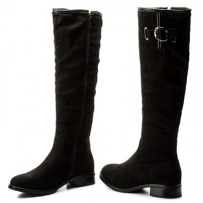 Oficerki Jenny Fairy Ws16013 1 Czarny Knee Boots Riding Boots Boots