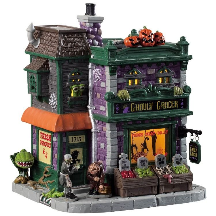 Lemax Ghouly Grocer #halloweenvillage