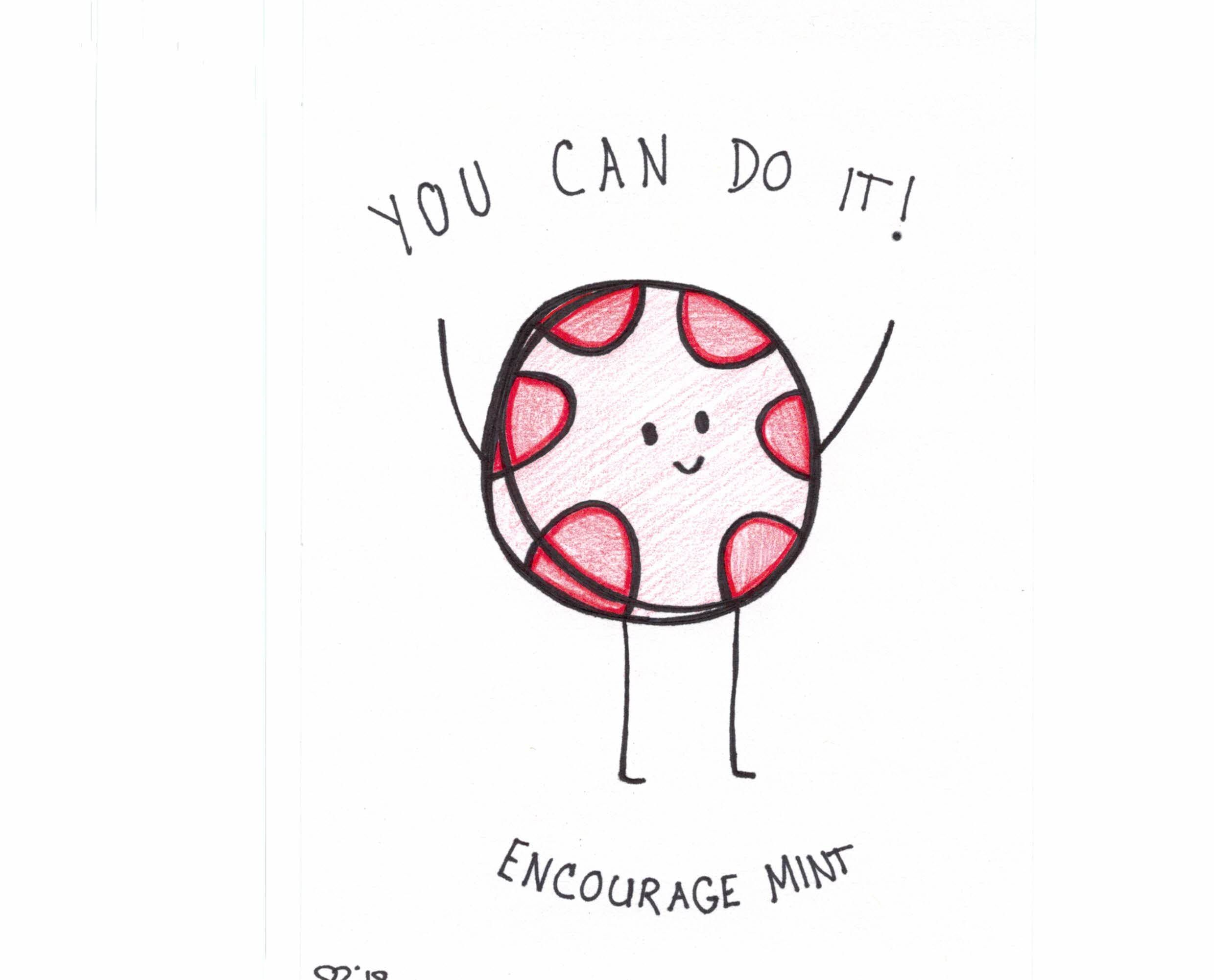 Encourage Mint Candy Cute Puns Funny Food Puns Candy