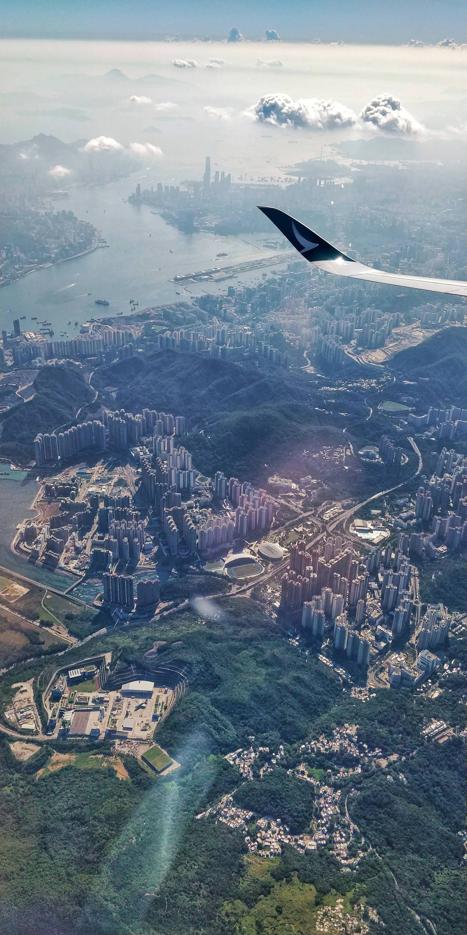 Aerial View Of Hong Kong Aerial View Airplane Window View Travel Aesthetic