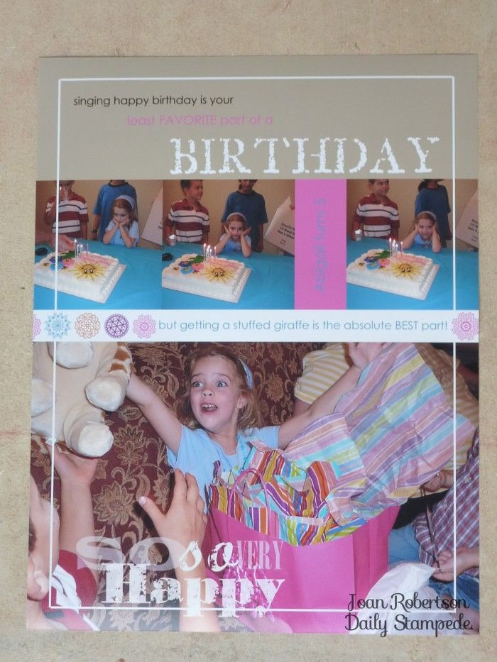 Digital scrapbook page using Stampin' Up! MDS