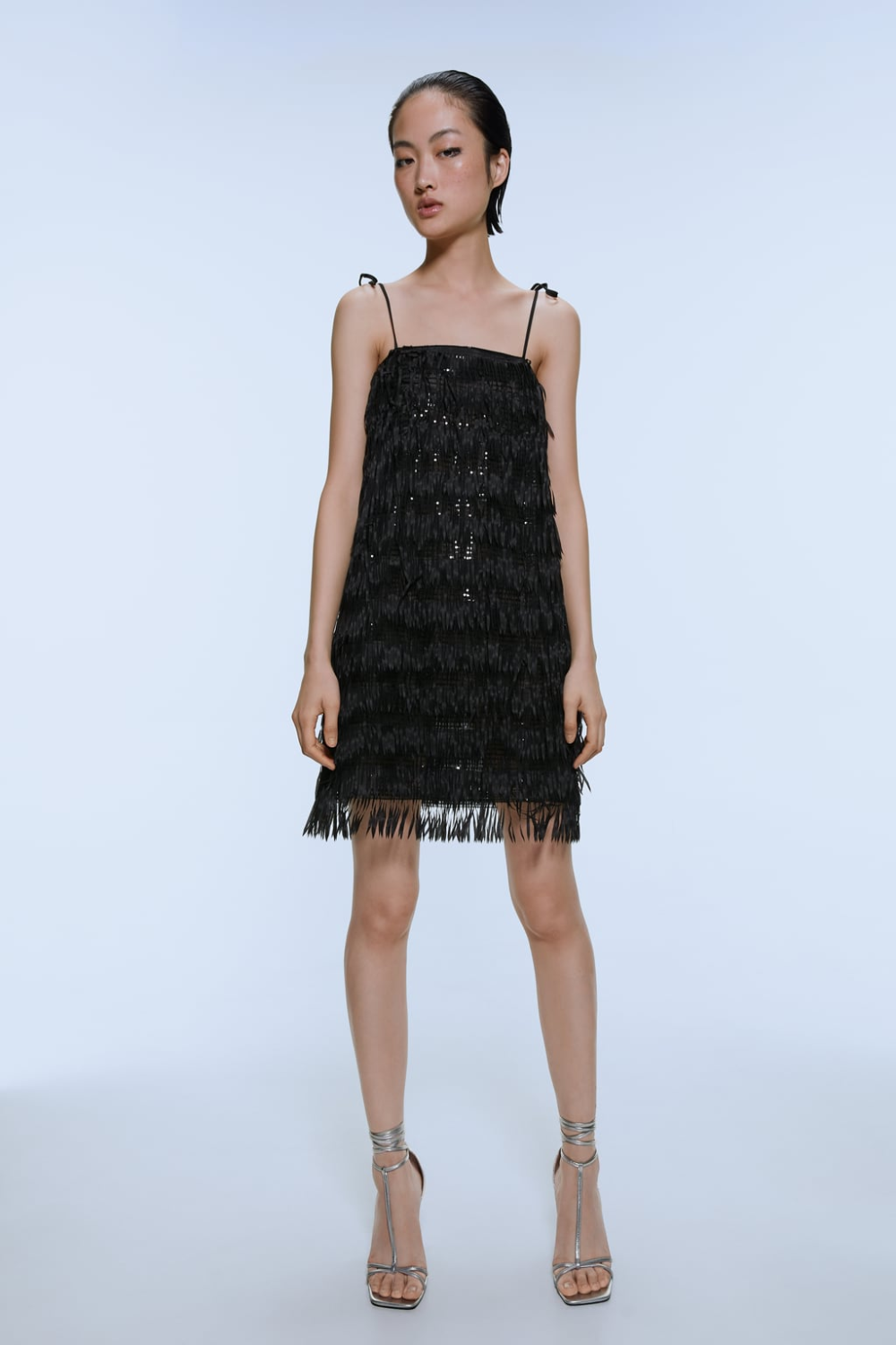 Fringed sequin dress in 2020 Cheap party dresses, Sequin