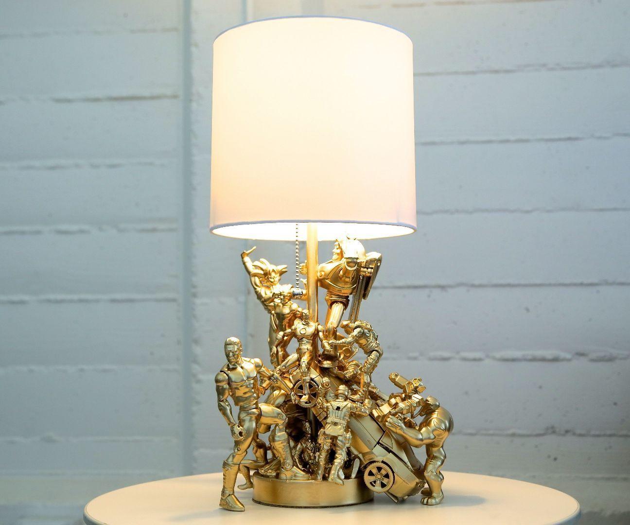 Action Figure Lamp Superhero Lamp Diy Lamp Diy Light Fixtures
