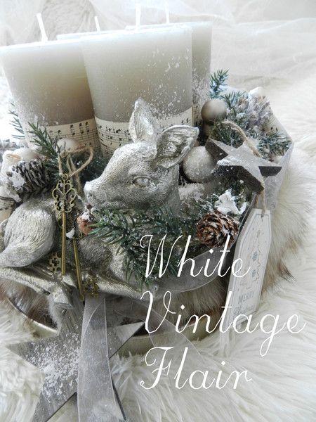adventskranz weihnachtdekoration rehkitz im fellkleid. Black Bedroom Furniture Sets. Home Design Ideas