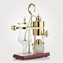 Christmas deals week Royal- Coffee Pot Siphon Coffee Maker (can Be Equipped With Grinder Itself) ( Color : Gold )