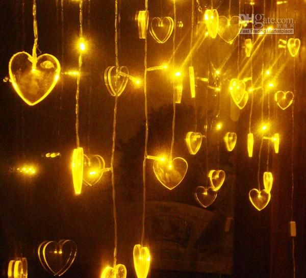 Yellow Heart Shaped Led Christmas Light Heart Shaped Light Led Christmas Lights Yellow Christmas Lights