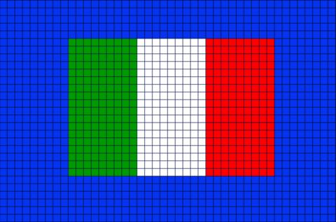 Flag Of Italy Pixel Art Pixel Art Drapeau Drapeau De L