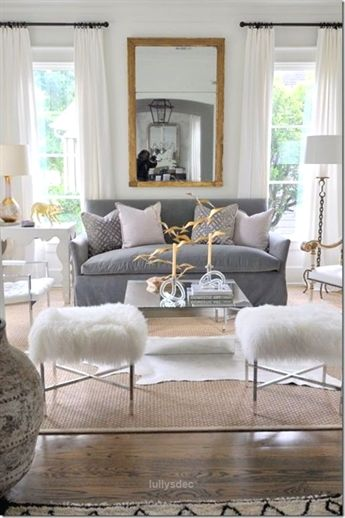 The myth of silver and gold clashing is proven wrong in this elegantlydecorated is part of Elegant Living Room Gold - The myth of silver and gold clashing is proven wrong in this elegantlydecorated living room