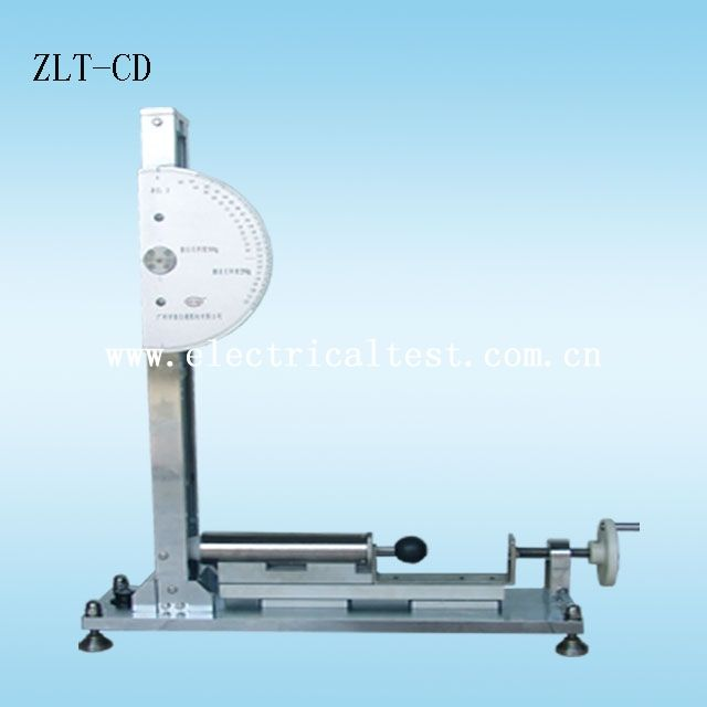 Model ZLT-CD: Conforms to IEC60068-2-75 Annex B The principle of this calibration procedure is to compare the energy provided by a spring hammer, which is difficult to measure directly, to the energy of a pendulum, calculated from its mass and height of fall