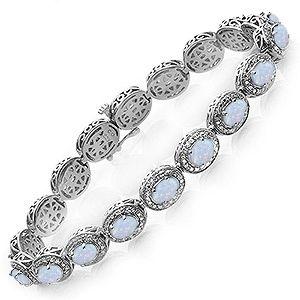 Jared LabCreated Opal Bracelet Sterling Silver Opal