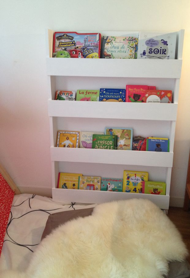diy pour r aliser une biblioth que pour enfants pour les. Black Bedroom Furniture Sets. Home Design Ideas
