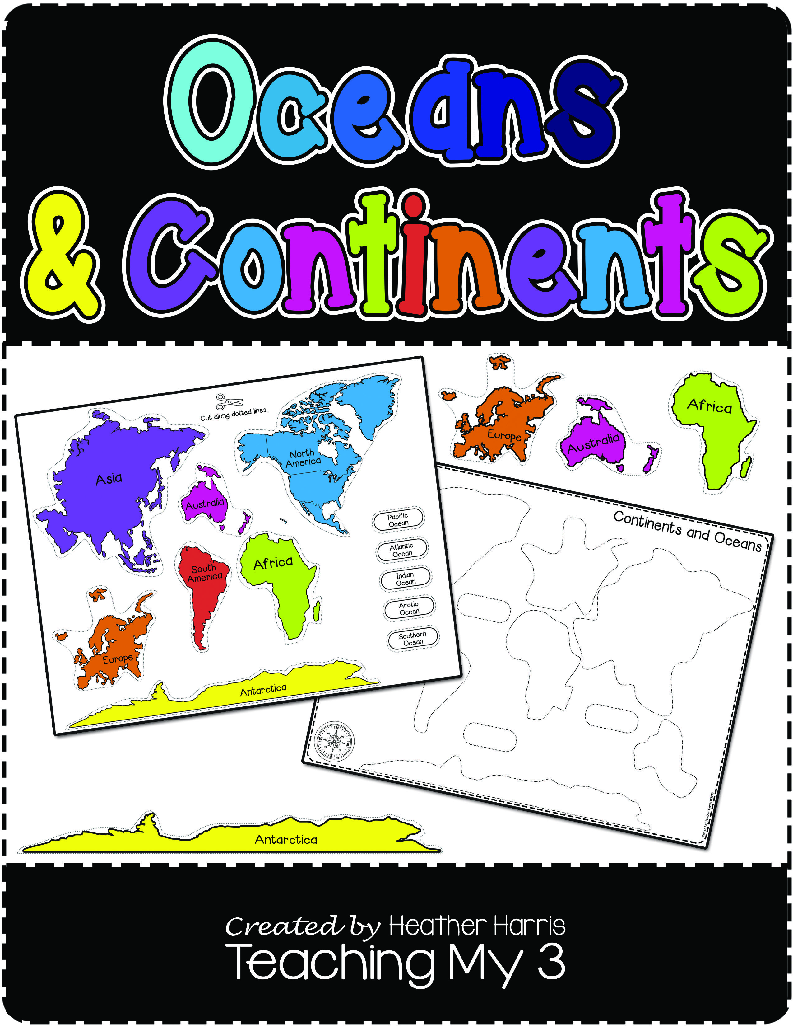 worksheet Continents And Oceans For Kids Worksheets learn continents and oceans with this puzzle worksheets excellent for classical conversations cycle
