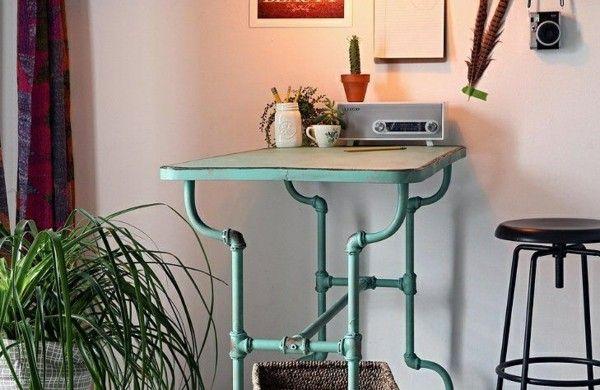 Industrial Design Möbel industrial design möbel tisch selber bauen röhre kinder