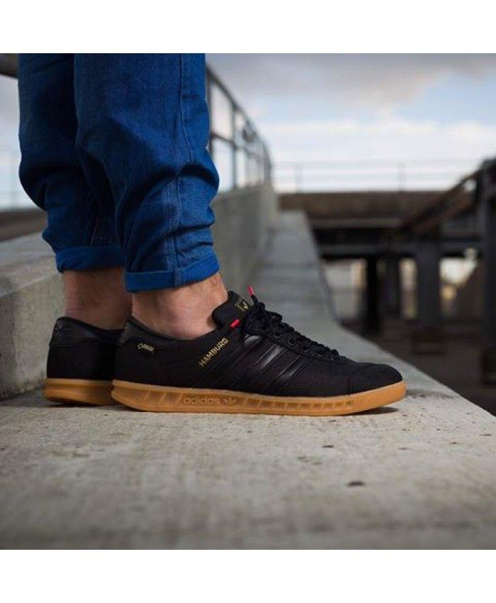 on sale 1dd80 d65a2 Adidas Hamburg Gore Tex Core Black Gum Trainer