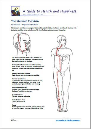 The Body Meridian Acu-Points - Charts A handy little PDF Book
