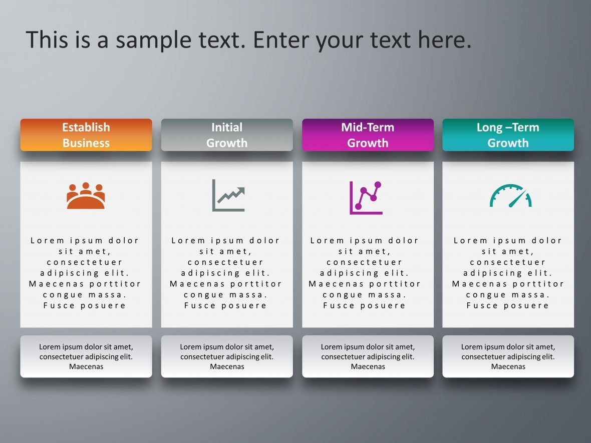 4 Steps Business Development PowerPoint Template (With