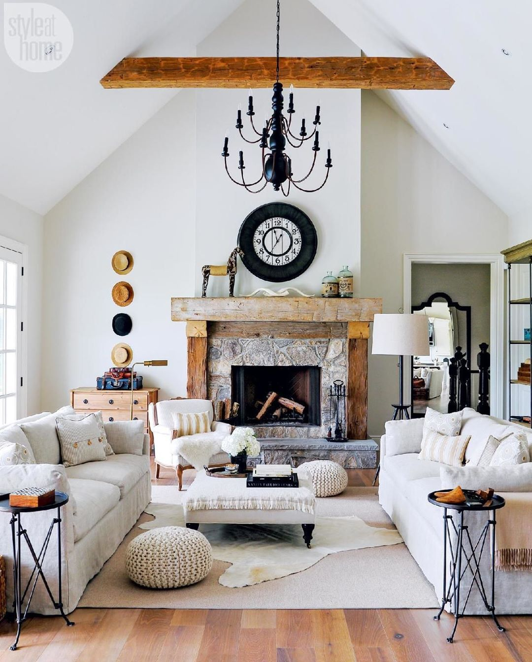 "225 Likes, 7 Comments - Style at Home (@styleathome) on Instagram: ""Your home doesn't need to be colourful to be interesting—try layered neutrals anchored by hits of…"""
