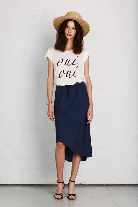 oui oui to a swingy blue skirt and a tshirt with a french ...