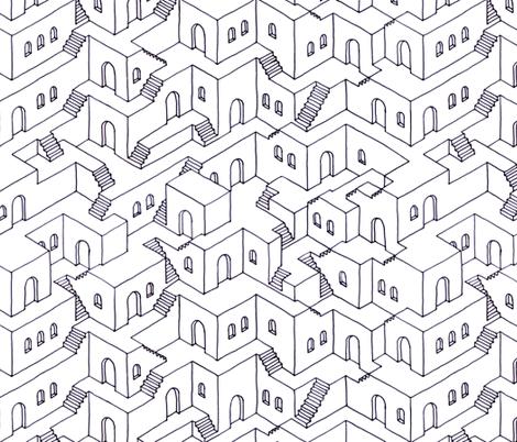 Infinite Neighborhood fabric by analinea on Spoonflower - custom fabric