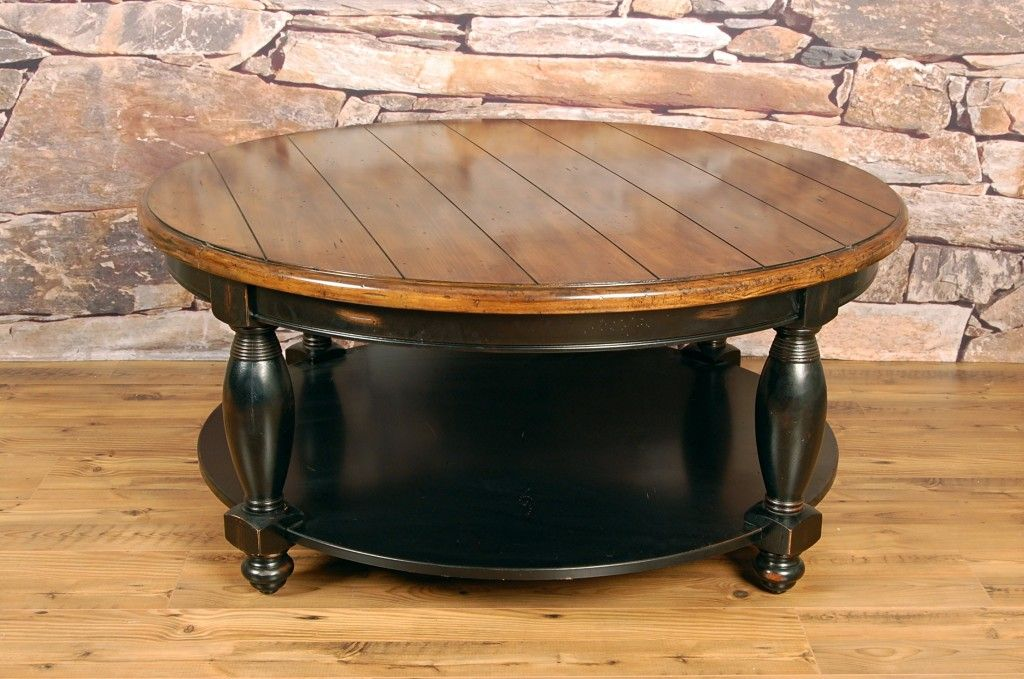 Two Tone Round Coffee Table Coffee Tables Furniture Coffee