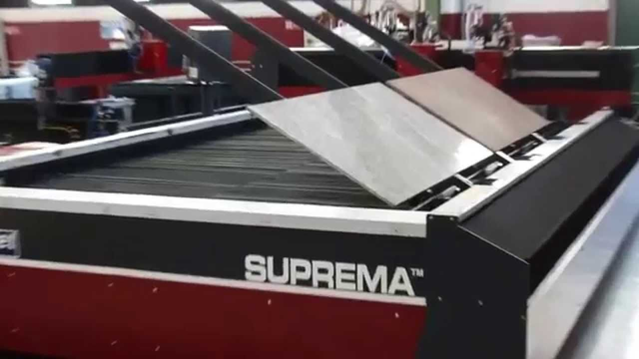 Waterjet automatic loading  / unloading system for stone and glass sheet...