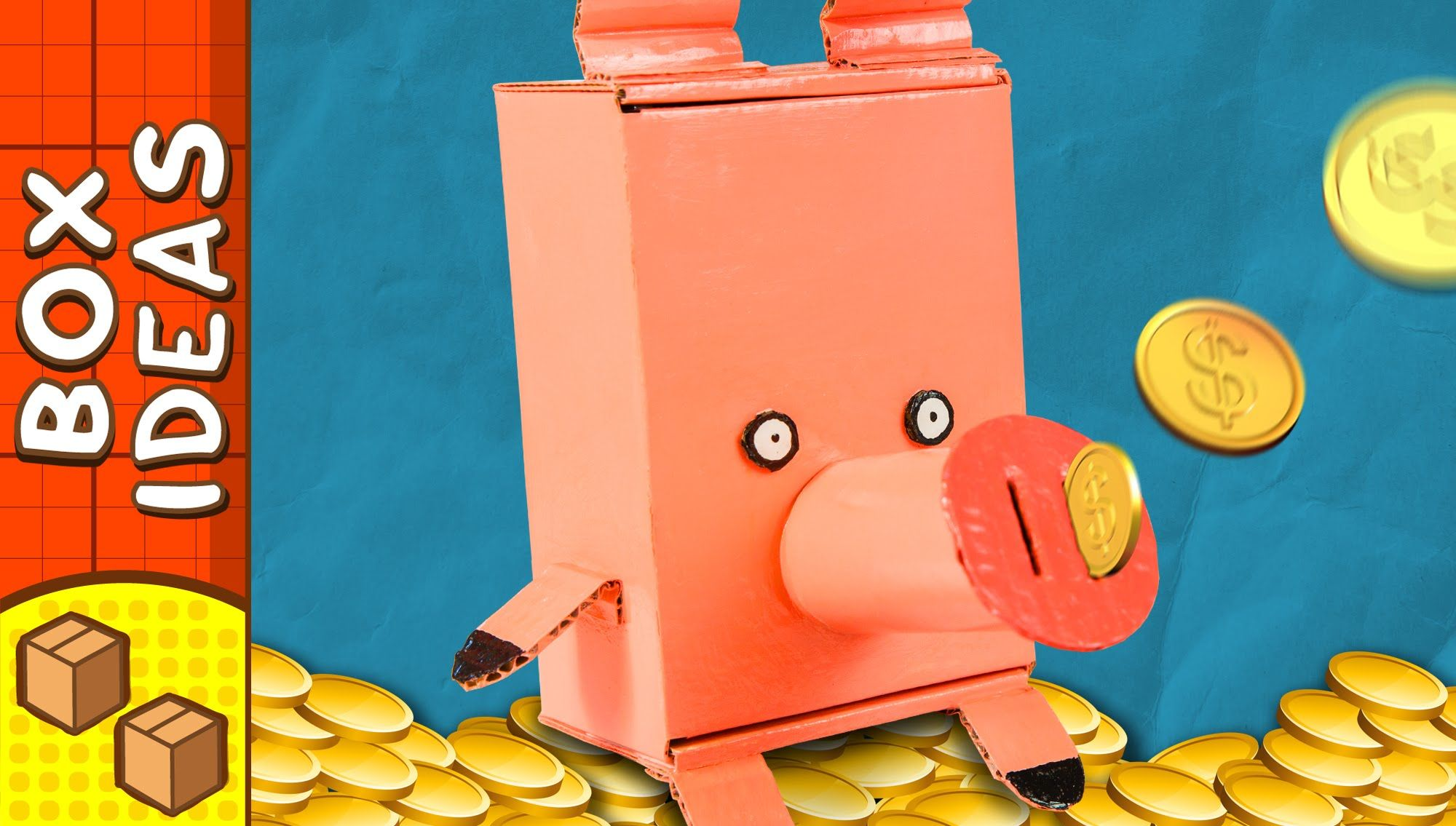 how to make piggy bank with cardboard