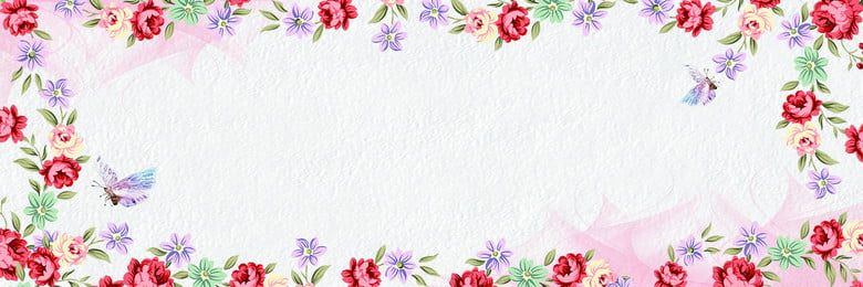 Photo of Cornice floreale design sfondo floreale