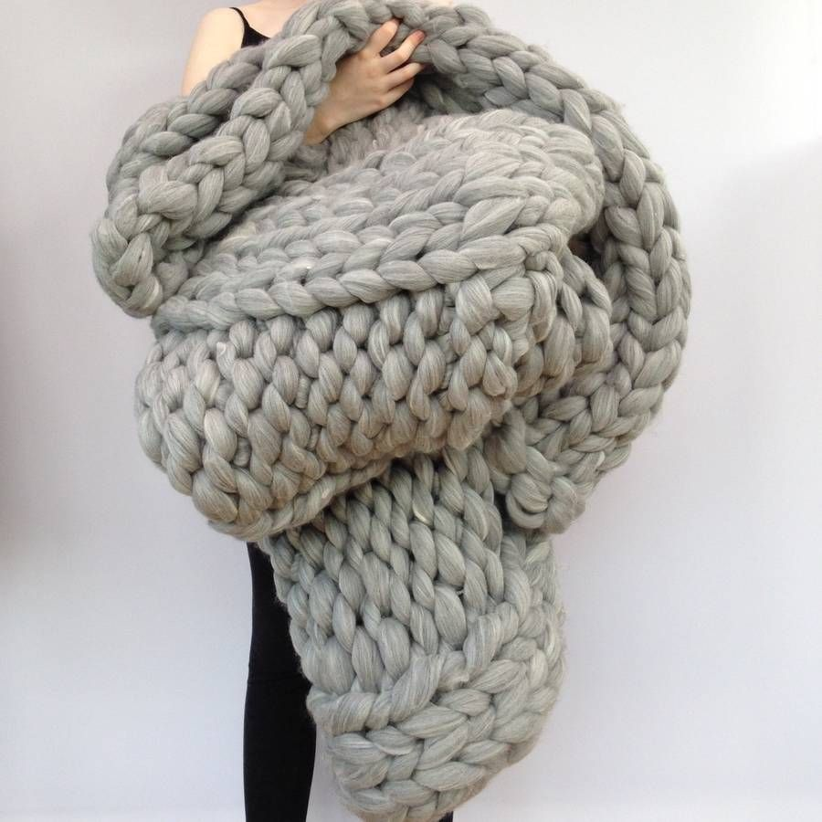 Knitting Wool Blanket : Giant yarn arm knitting or needle extreme