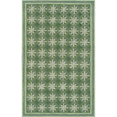 Cordoba 5' x 8' Rug in Green from the Manam
