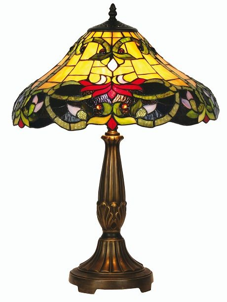 The Soren Tiffany Style Table Lamp Offers An Array Of Dark And