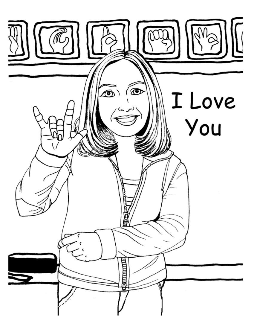 coloring pages for the deaf - photo#15