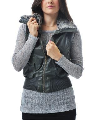 (CLICK IMAGE TWICE FOR DETAILS AND PRICING) Daylamy Leatherette Vest Olive Green. This trendy vest looks fab with your warm turtleneck and fitted jeans.. See More Coats and Jackets at http://www.ourgreatshop.com/Coats-and-Jackets-C76.aspx