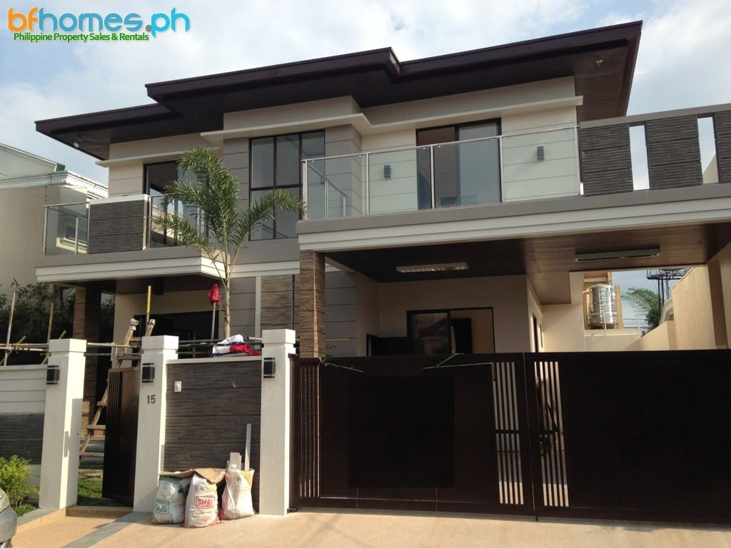 Brandnew Contemporary 2 Story House For Sale In Bf Homes Http Bfhomes Ph Property Brandnew Contemp Bungalow Design Dream Home Design Beautiful Home Designs