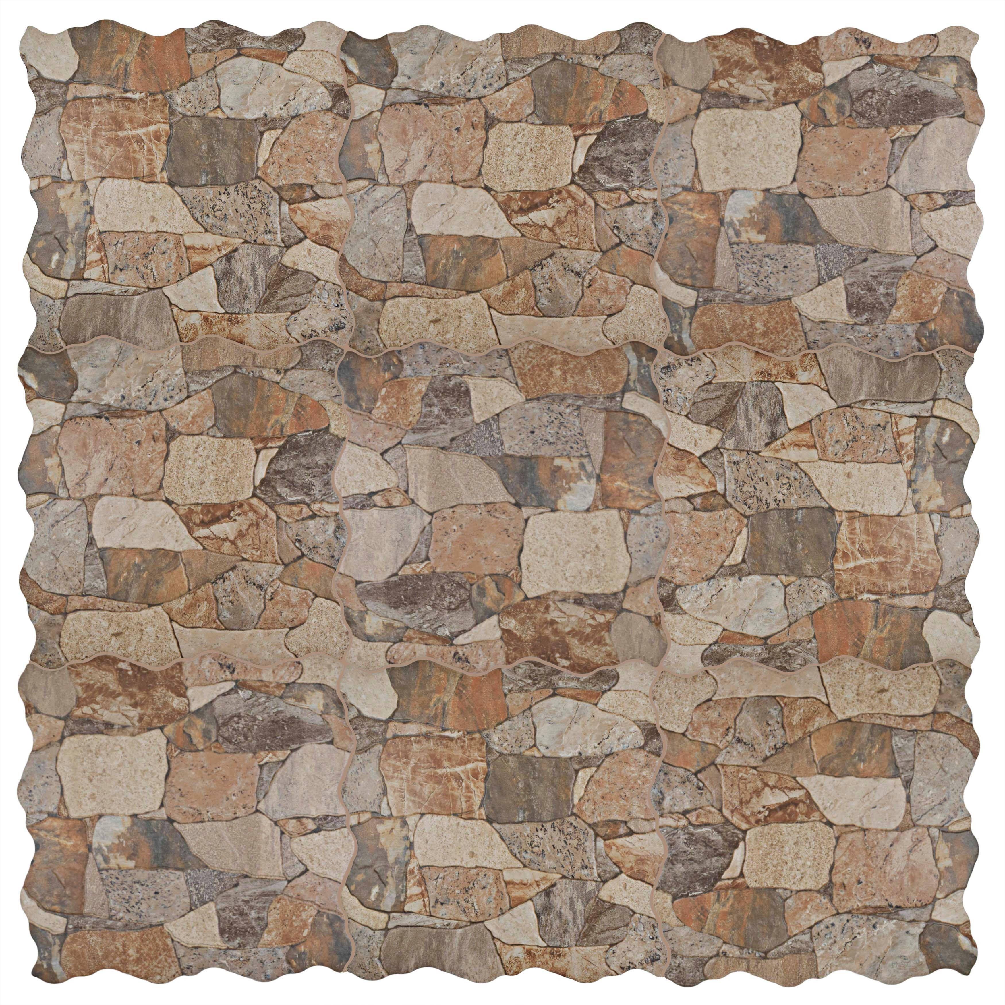 SomerTile 17 75 x 17 75 inch Atticus Gris Stone look Ceramic Floor