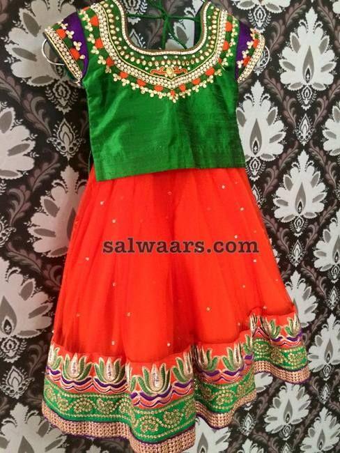 Simple Kids Lehenga - Indian Dresses