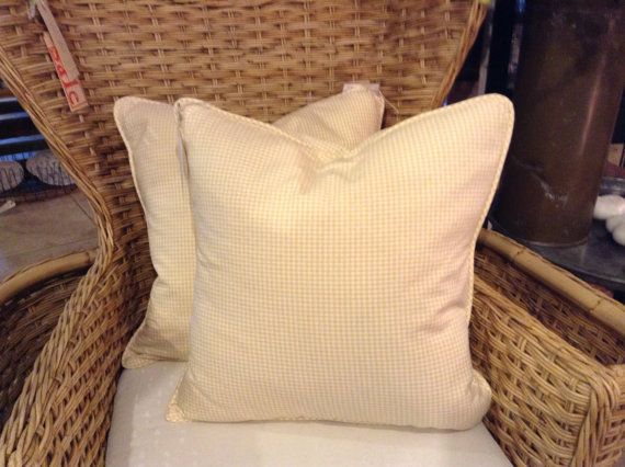 Ralph Lauren Fabric Down Pillows In Quilted Yellow By FMFCompagnie