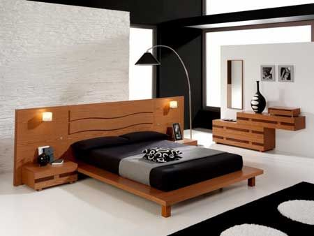 bedroom inspiration 2-i-like headboard and bed!