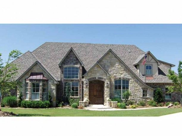 French Country , 4 Bedroom , 1 Story The Beautiful Stone Exterior Opens To  A Luxurious. Eplans French Country House Plan ...