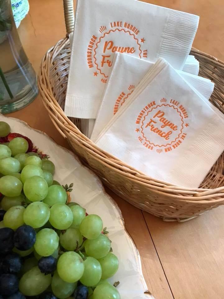 Custom designed beverage napkins janmstephenson