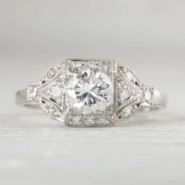 Photo of .73 Carat Vintage Art Deco Engagement Ring