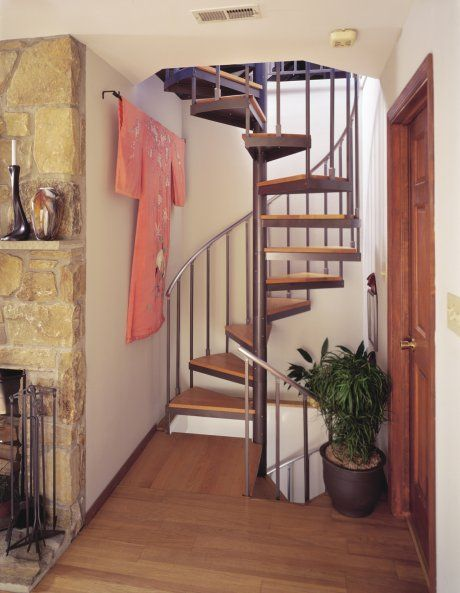 Spiral Staircase A Step To Saving Floor Space Attic