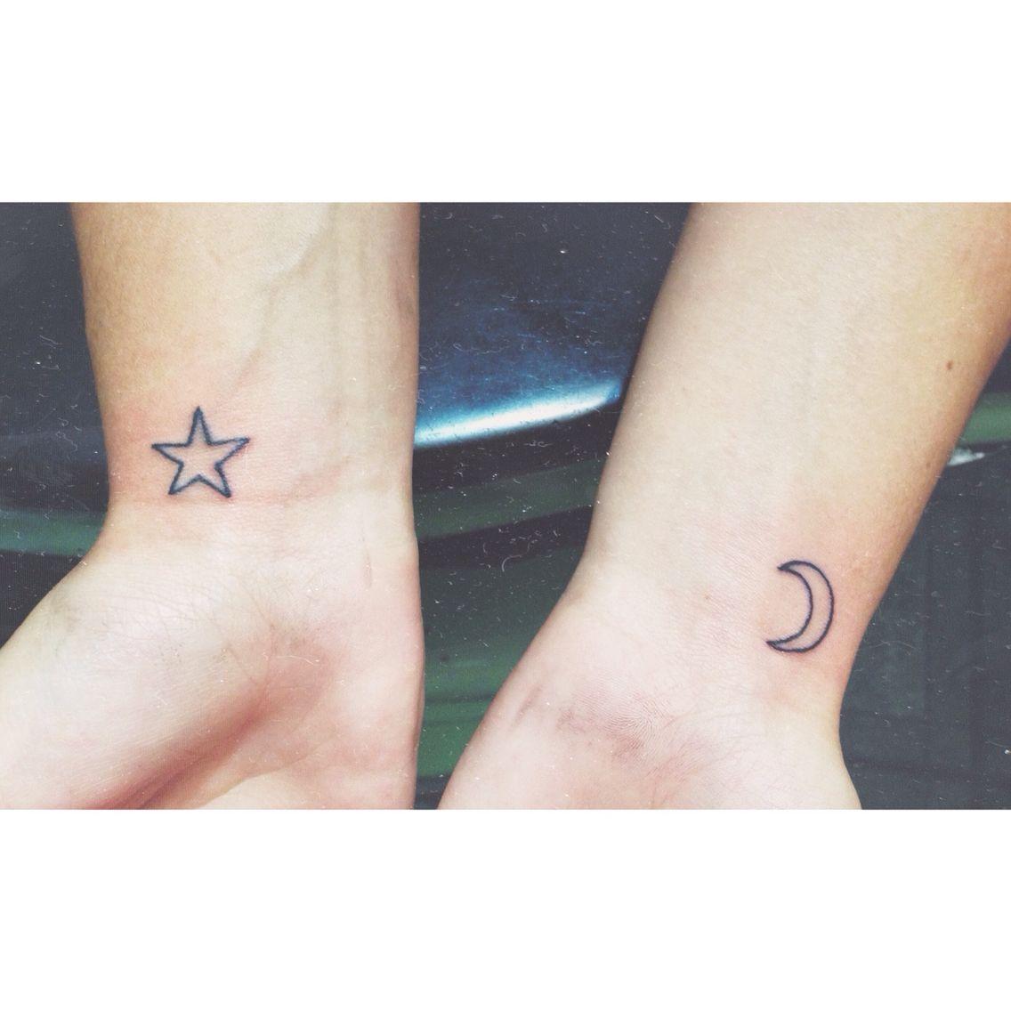 Small Moon And Star Tattoo On Wrist Star Tattoos Star Tattoo On Wrist Moon Star Tattoo