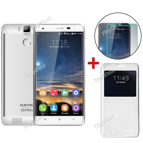 """Presell OUKITEL K6000 PRO 5.5\"""" FHD 3GB RAM MTK6753 Android 6.0 4G Phone + Flip Cover + Screen Protector KB-512693"""