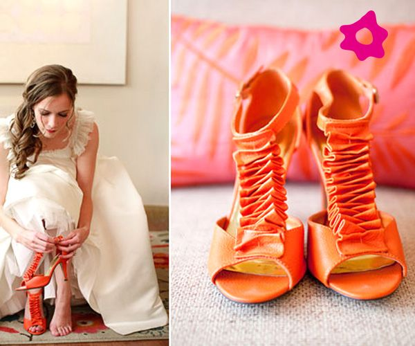 naranjas | zapatos de novia | orange wedding shoes, orange shoes y