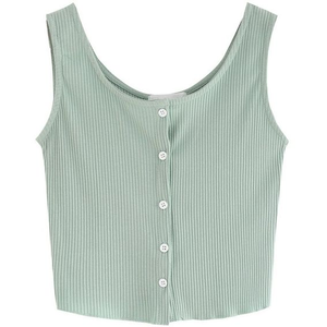Urstyle Womens Sleeveless Vest Top Outfits Crop Shirt
